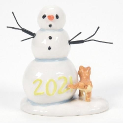 Department 56, Village Accessories, Lucky The Snowman 2021