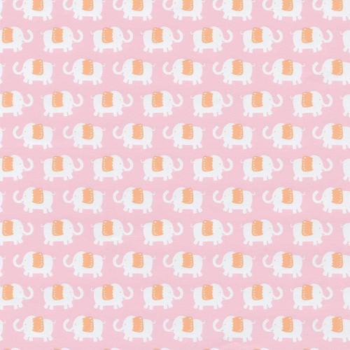 Caspari 5' Continuous Gift Wrap Roll, Elephant Parade Pink (8984RSC)