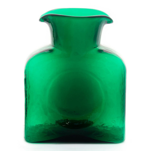 Blenko Glass Water Bottle, Emerald Green