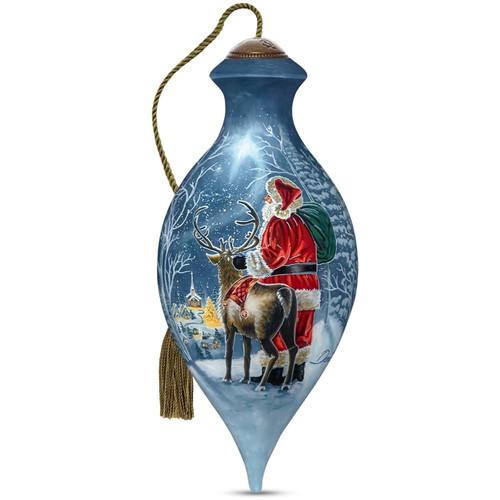 Ne'Qwa, Starry Night Santa Glass Ornament