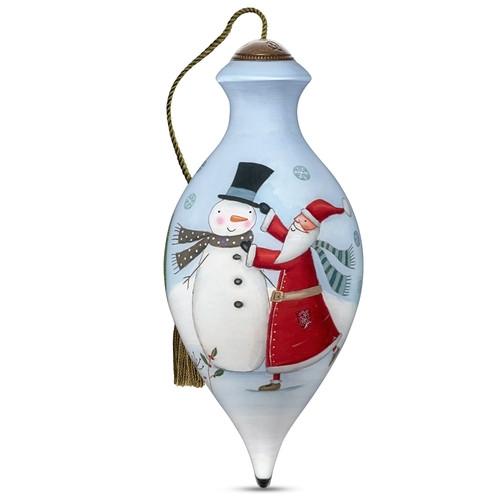 Ne'Qwa, Tis the Season, Hand-Painted Glass Ornament