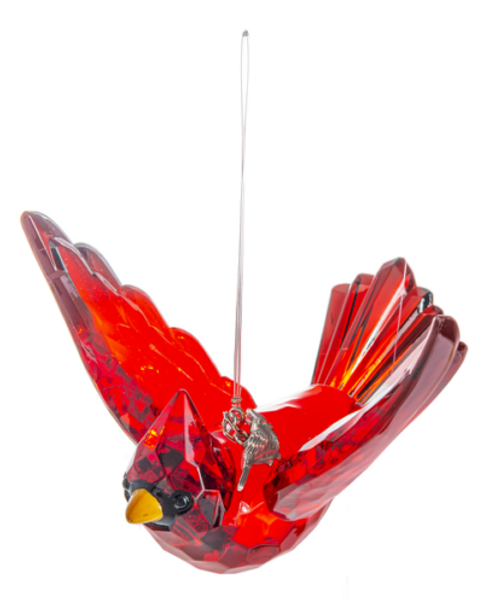 Ganz Radiant Cardinal Ornament w/ Charm