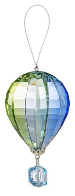 Ganz Vibrant Hot Air Balloon Ornament, Blue