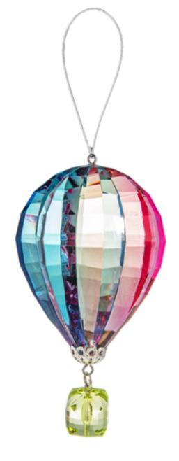 Ganz Vibrant Hot Air Balloon Ornament, Green