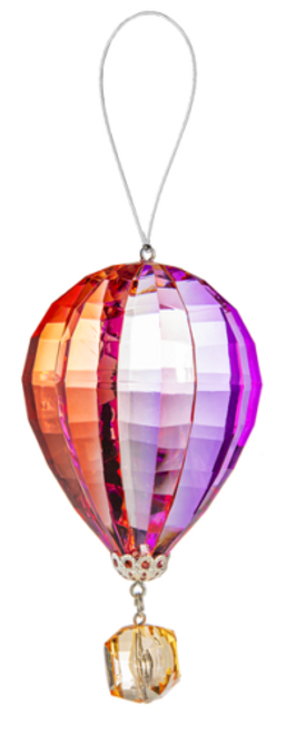 Ganz Vibrant Hot Air Balloon Ornament, Orange