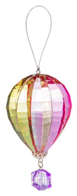 Ganz Vibrant Hot Air Balloon Ornament, Purple