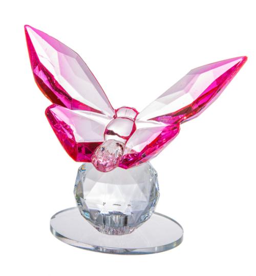 Ganz Butterfly Figurine, Pink