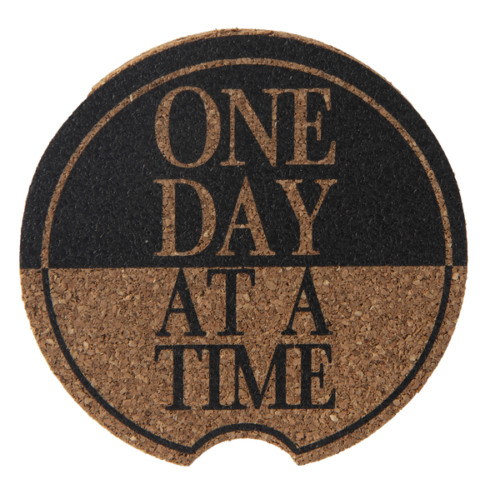 Ganz Car Coaster, Black, One Day at a Time