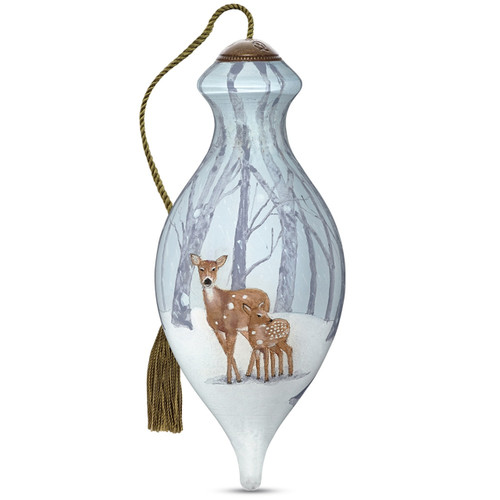 Ne'Qwa, First Winter, Hand-Painted Glass Ornament