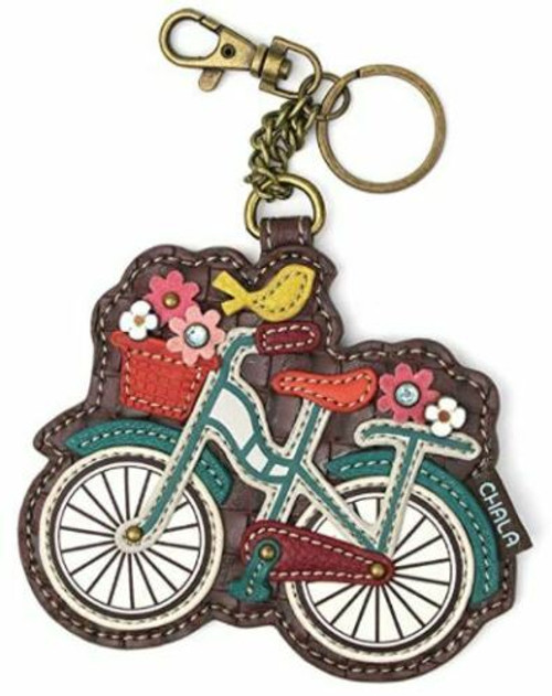 Chala Coin Purse/Key Fob, Bicycle