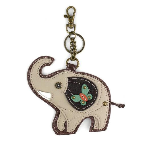 Chala Coin Purse/Key Fob, Elephant