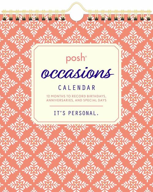 Simon & Schuster Posh Occasions Wall Calendar