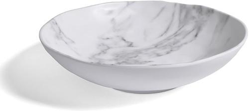 Merritt White Marble Serving Bowl