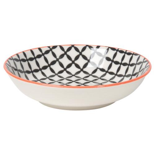 Now Designs Dip Bowl, Black Lattice