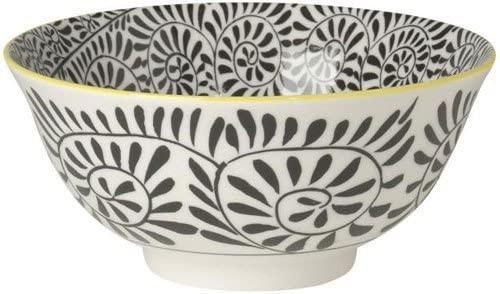 "Now Designs Stamped Bowl Black Vines 6"""