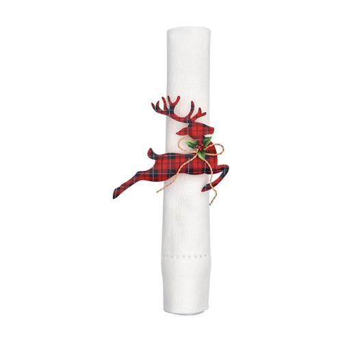 C&F Enterprises Tin Reindeer Napkin Ring