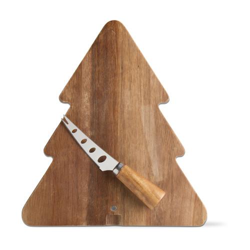TAG Acacia Tree Board & Cheese Knife Set