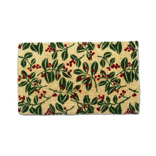 TAG Holiday Berries Coir Mat
