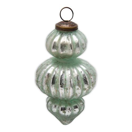 "TAG 5"" Baroque Glass Ornament"