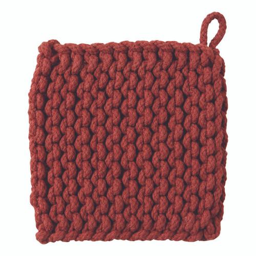TAG Crocheted Trivet, Chestnut