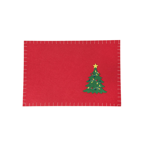 C&F Home Felt Placemat Christmas Tree, Set of 4