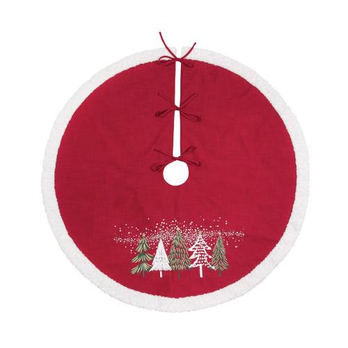 C&F Enterprises Snowy Trees Christmas Tree Skirt