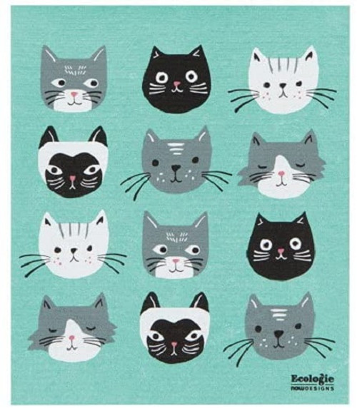 Now Designs Cat's Meow Swedish Towel