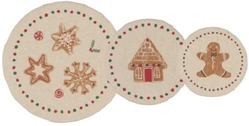 Now Designs Christmas Cookie Mini Bowl Covers, Set of 3