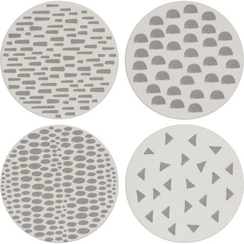 Now Designs Set of 4 Coasters, Dapple
