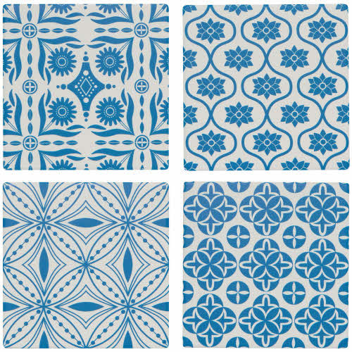 Now Design Set of 4 Coasters, Tangier