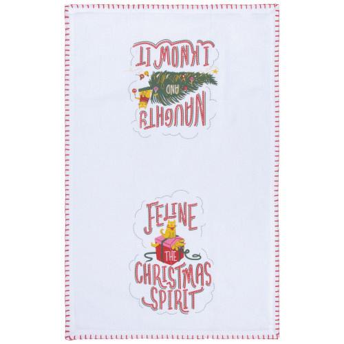 Now Design Tea Towel, Santa Claus Print