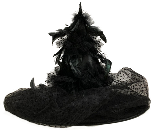 180 Black Feathered Witch Hat