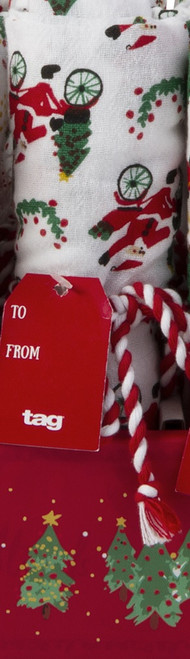 TAG Whimsy Holiday Flour Sack Dishtowel, Santa