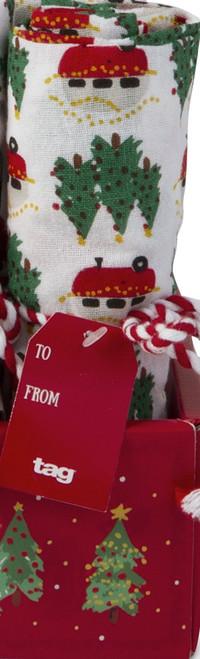 TAG Whimsy Holiday Flour Sack Dishtowel, Camper
