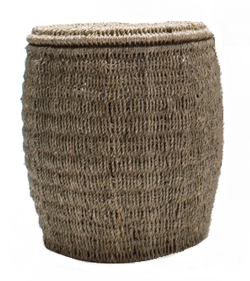 TAG Seagrass Storage Ottoman, Small
