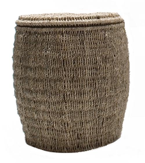 TAG Seagrass Storage Ottoman, Medium