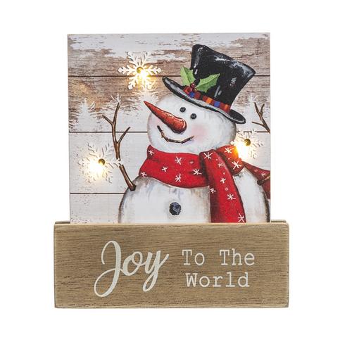 Ganz Light Up Snowman Plaque, Joy to the World