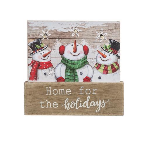 Ganz Light Up Snowman Plaque, Home for the Holidays