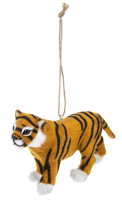 Ganz Little Fur Animal Ornament, Tiger