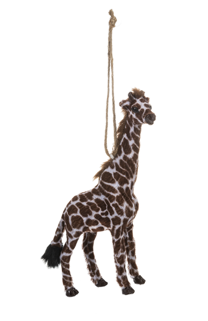 Ganz Little Fur Animal Ornament, Giraffe