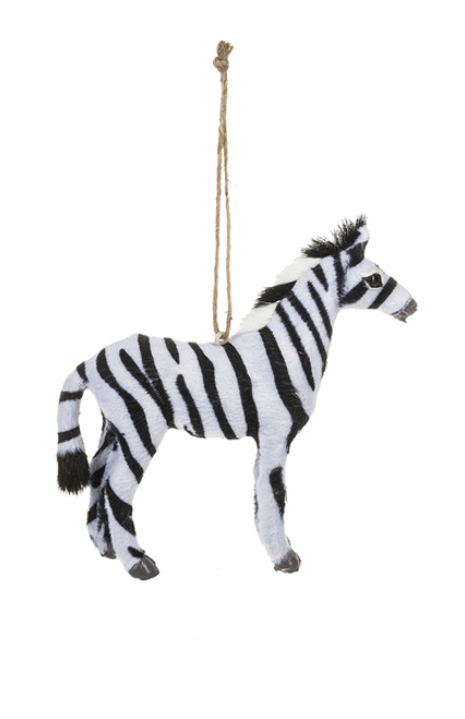 Ganz Little Fur Animal Ornament, Zebra