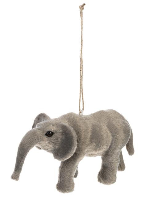 Ganz Little Fur Animal Ornament, Elephant