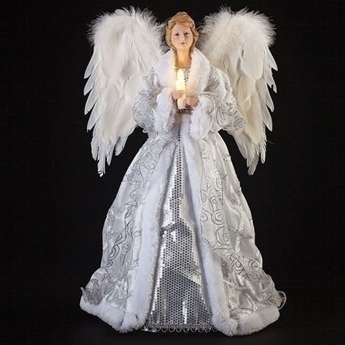 Roman LED Angel With Candle Tree-Topper