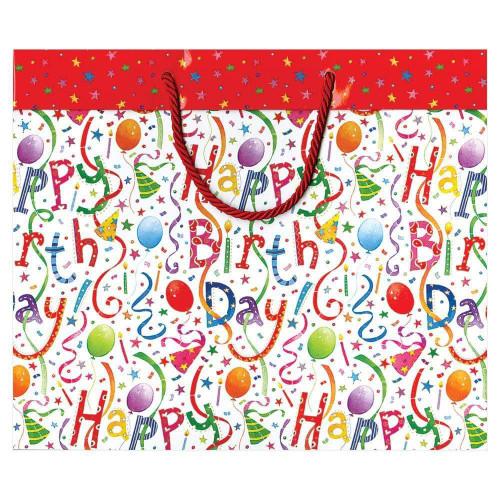 Caspari Large Gift Bag, Happy Birthday (8823B3)