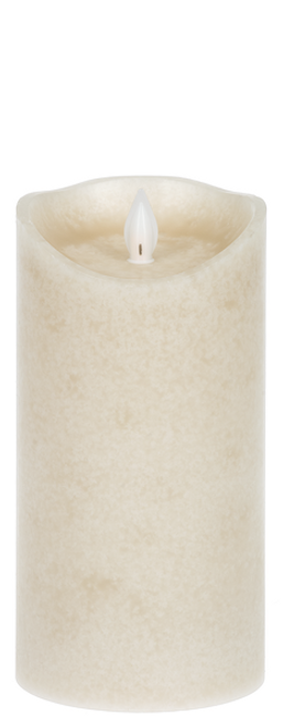 "Ganz LED Ardella Wax 3 x 6"" Pillar, Linen"