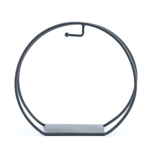 Demdaco Round Ornament Stand, Dark Gray