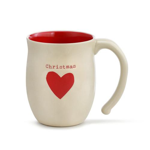 Demdaco Christmas Heart Mug