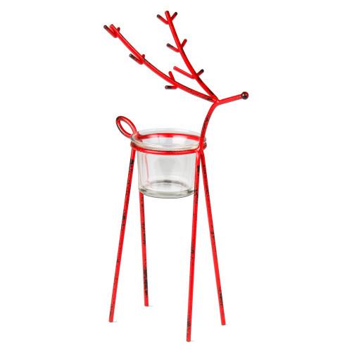 TAG Red Reindeer Tealight Holder, Medium