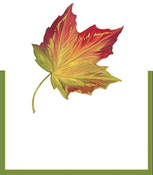 Caspari Die-Cut Place Cards, Maple Leaf (82930P)