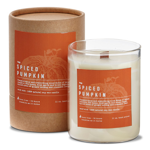 TAG Wood Wick Candle, Spiced Pumpkin
